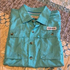 Boy's Magellan Outdoors Turquoise Fishing Shirt